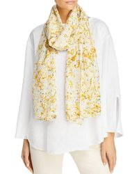 Eileen Fisher Abstract Stroke Silk Scarf - Yellow