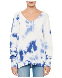 Aqua Cotton Tie - Dyed Jumper - Blue