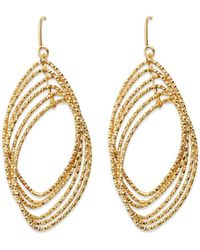 Bloomingdale's - Textured Multi Marquise Drop Earrings In 14k Yellow Gold - Lyst
