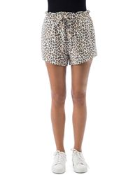 B Collection By Bobeau Donna Animal Print French Terry Shorts - Multicolour
