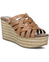 8cc2e8e3127 Lyst - Marc Fisher Women s Andrew Woven Leather High-heel Platform ...