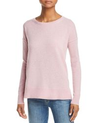 Aqua - Cashmere High/low Cashmere Sweater - Lyst