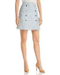 Karl Lagerfeld Tweed Skirt - Blue