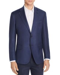 Bloomingdale's Hopsack Regular Fit Sport Coat - Blue