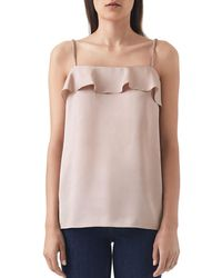 Reiss - Jessica Ruffled Camisole Top - Lyst