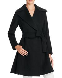 Trina Turk Violet Fit-and-flare Coat - Black