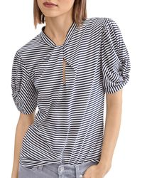 7 For All Mankind Cotton Twisted Top - Blue