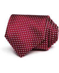 Canali Bolts & Spools Classic Silk Tie - Red