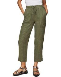 Whistles Linen Cargo Pants - Green