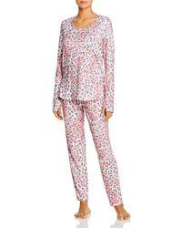Josie #pjsallday Animal - Print Long Pyjama Set - Pink