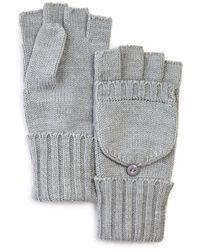 C By Bloomingdale's Aqua Pop - Top Gloves - Metallic