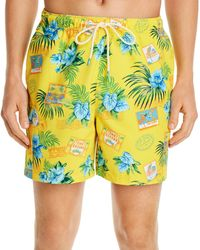 Tommy Bahama Naples Paradise Postcard Swim Trunks - Yellow