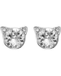 Karl Lagerfeld Choupette Stud Earrings - Metallic