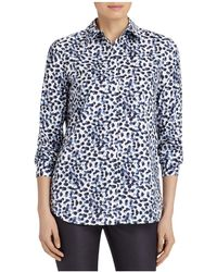 Lafayette 148 New York - Brody Multi Dot Blouse - Lyst