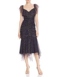 c7329a7c69a Alice McCALL - Venus Scalloped - Embroidery Midi Dress - Lyst