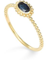 Lagos - 18k Gold Oval Sapphire Stackable Ring - Lyst