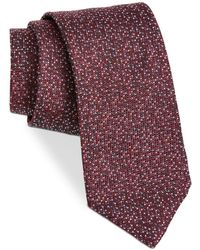 John Varvatos Star Usa Dot Silk Tie - Red