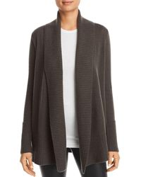C By Bloomingdale's Shawl - Collar Cashmere Cardigan - Green