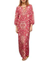 Gerard Darel Sahana Printed Maxi Dress - Pink