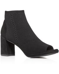 Eileen Fisher Women's Margate Stretch Open - Toe Booties - Black