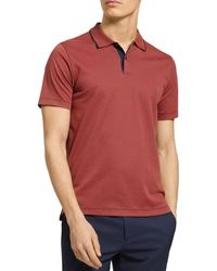 Theory Regular Fit Polo Shirt - Red