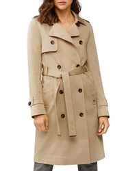 SOIA & KYO Liana Double - Breasted Trench Raincoat - Natural