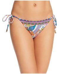 Trina Turk - Jungle Beach Side Tie Bikini Bottom - Lyst