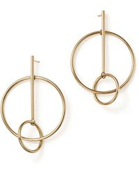Bloomingdale's - 14k Yellow Gold Stick And Circle Drop Earrings - Lyst
