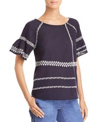 Joie - Shoffie Embroidered Top - Lyst