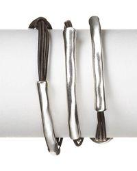 Uno De 50 Not To Be Wrap Bracelet - Metallic