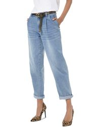 MICHAEL Michael Kors Carrot High - Rise Cropped Straight - Leg Jeans In Angel Blue Wash