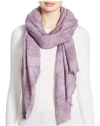 Echo - Pleated Wrap Scarf - Lyst