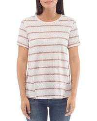B Collection By Bobeau Ellery Striped Tee - White