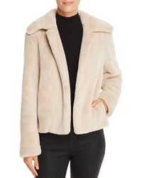 Theory Luxe Faux - Fur Jacket - Natural