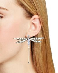 Kate Spade Simulated Pearl Dragonfly Drop Earrings - Multicolor