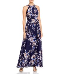 Eliza J Sleeveless Maxi Dress - Blue