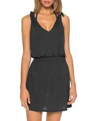 Becca Breezy Basics Tie - Shoulder Cover - Up Dress - Black