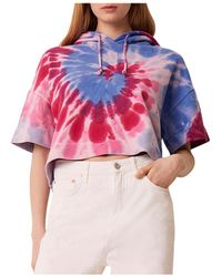 French Connection Prina Cotton Tie Dyed Hoodie - Multicolour