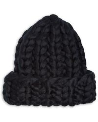 Echo Super Chunky Hand Knit Beanie - Black