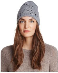 Aqua - Floral Knit Hat - Lyst