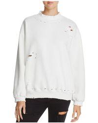 Honey Punch Distressed Sweatshirt - White