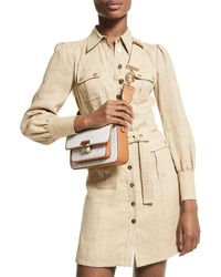 MICHAEL Michael Kors Hemp Utility Mini Dress - Natural