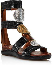 Chloé Women's Wanda Gladiator Sandals - Black