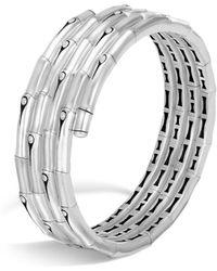 John Hardy - Sterling Silver Bamboo Four-coil Bracelet - Lyst