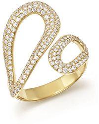 Ippolita 18k Yellow Gold Cherish Diamond Bypass Ring - Metallic