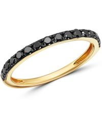 Bloomingdale's - Black Diamond Stacking Ring In 14k Yellow Gold - Lyst