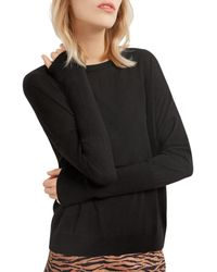 Gerard Darel Dixie Oversized Merino Wool Jumper - Black