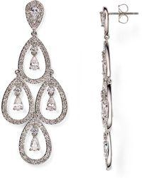 Nadri Kite Chandelier Earrings - Metallic