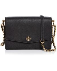 aac931a1330 Lyst - Tory Burch Shoulder Bag Fleming Colorblock Mini Double Flap ...