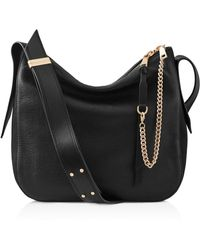 Reiss - Relaxed Leather Shoulder Bag - Lyst
